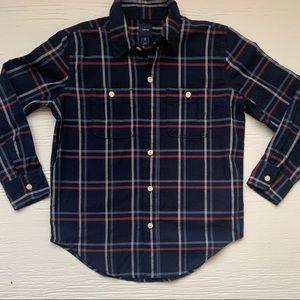Gap plaid flannel button down shirt size 8